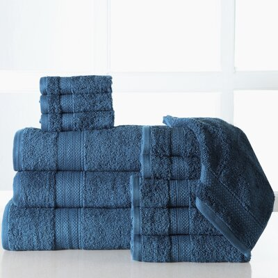 Ziegler 12 Piece Towel Set Color: Denim