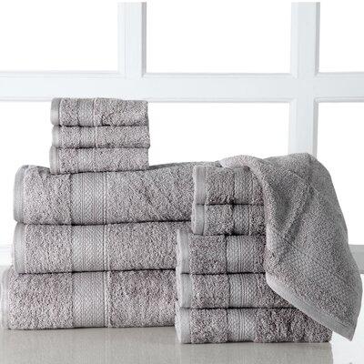 Ziegler 12 Piece Towel Set Color: Platinum
