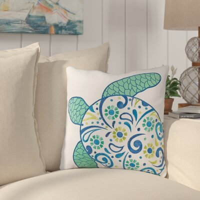 Danise Turtle Cotton Throw Pillow