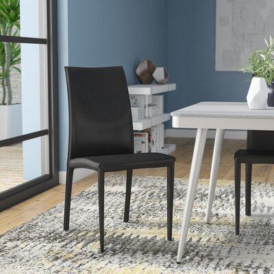 Barnesville Side Chair Upholstery: Black