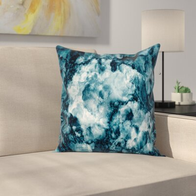 Marble Stone Effect Square Pillow Cover Size: 18 x 18