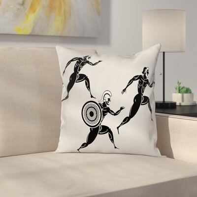 Spartan Runners Body Square Cushion Pillow Cover Size: 18 x 18