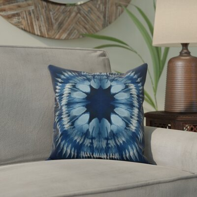 Armstrong Shibori Burst Throw Pillow Size: 16 H x 16 W, Color: Navy Blue