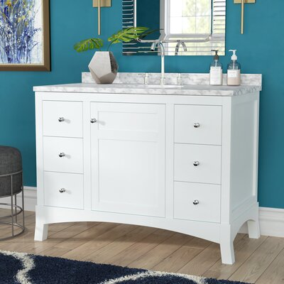 Piccirillo 42 Single Bathroom Vanity Set Base Finish: White Oak