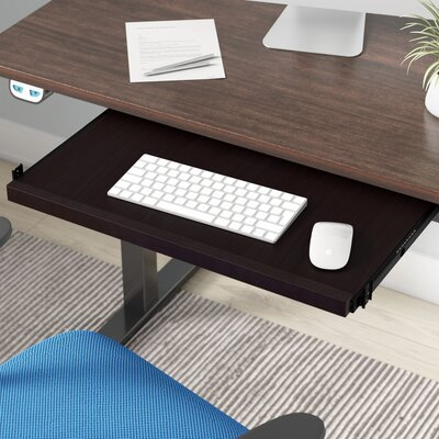 1.25 H x 23.5 W Desk Keyboard Tray Finish: Mocha