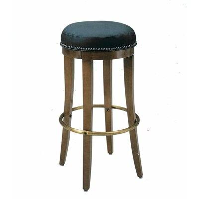 30 Bar Stool Upholstery Color: Partner Black, Frame Color: Montana Walnut