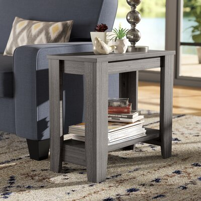 Trombetta End Table Color: Gray