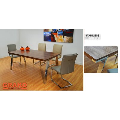 Pennebaker Dining Table Color: Walnut