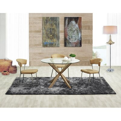 Saunders Tempered Glass Dining Table