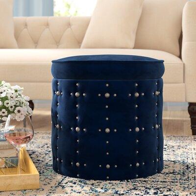 St Helens Storage Ottoman Upholstery: Navy Blue