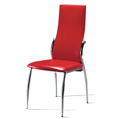 Saver Upholstered Dining Chair Upholstery Color: Red