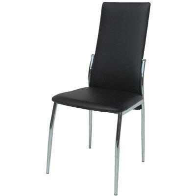 Saver Upholstered Dining Chair Upholstery Color: Black