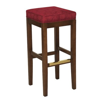 30 Bar Stool Upholstery Color: Partner White, Frame Color: Montana Walnut