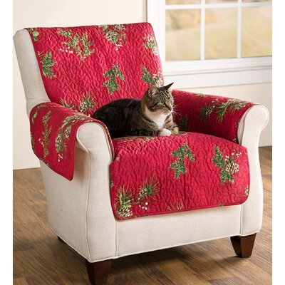 Pet Box Cushion Sofa Slipcover Size: Large