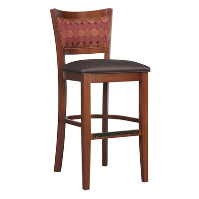 30 Bar Stool Upholstery Color: Howdy Taupe, Frame Color: White