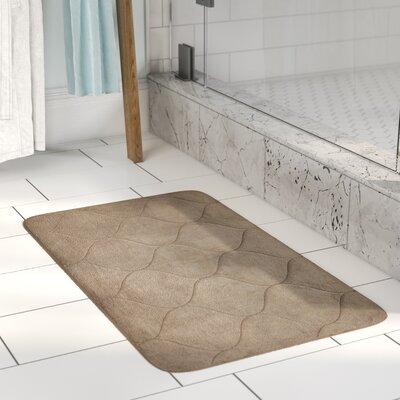 Leander Micro Plush Memory Foam Bath Mat Color: Linen, Size: 17 H x 24 W