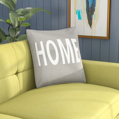 Carnell Home Cotton Throw Pillow Cover Color: Gray/ White