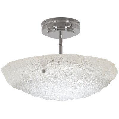 Glatt 1-Light Bowl Pendant Size: 11.5 H x 16 W x 16 D