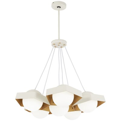 Roseau Leaf 6-Light Cluster Pendant