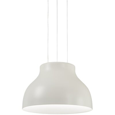 Giuliani 1-Light Inverted Pendant Finish: White