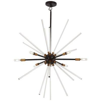 Bower 6-Light Sputnik Chandelier Finish: Bronze/Natural Brass, Size: 32.75 H x 30.5 W x 30.5 D