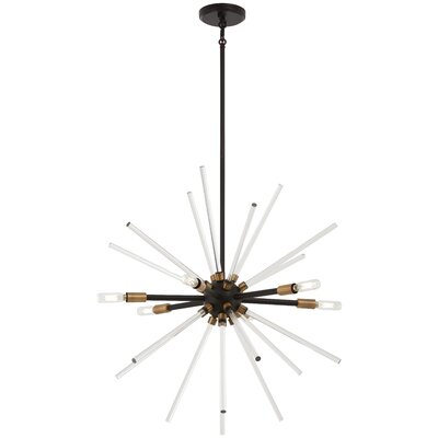 Bower 6-Light Sputnik Chandelier Finish: Bronze/Natural Brass, Size: 25.5 H x 25 W x 25 D