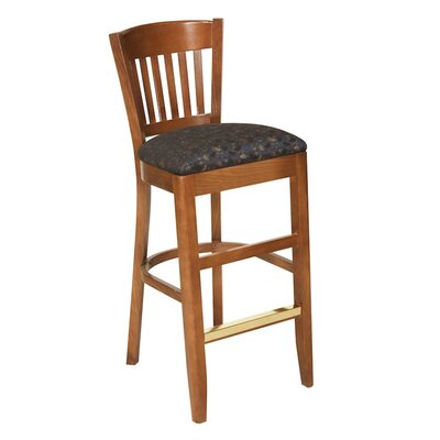 30 Bar Stool Upholstery Color: Partner Black, Frame Color: White