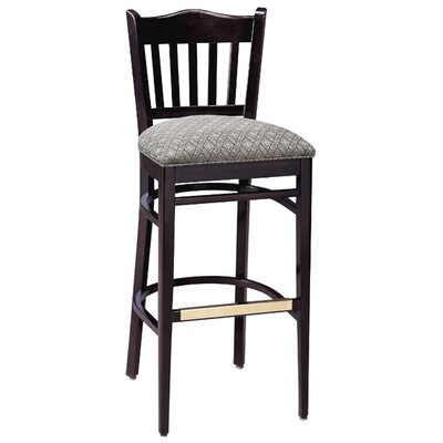 30 Bar Stool Upholstery Color: Partner Black, Frame Color: Wild Cherry