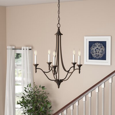 Ellender 5-Light Candle-Style Chandelier Finish: English Bronze