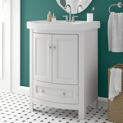 Brook Hollow 25 Single Vanity Set Base Finish: White