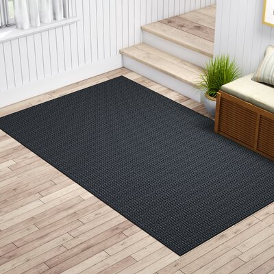 Waverly Black Area Rug Rug Size: 6 x 9