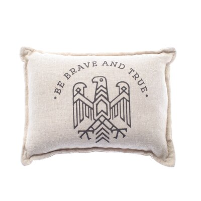 Lobato Be Brave Balsam Cotton Throw Pillow