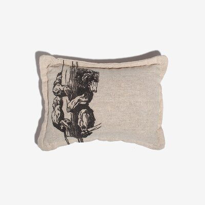 Loar Bear Balsam Cotton Throw Pillow
