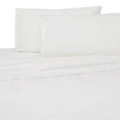 Classic Touch 200 Thread Count Flat Sheet Size: King, Color: White