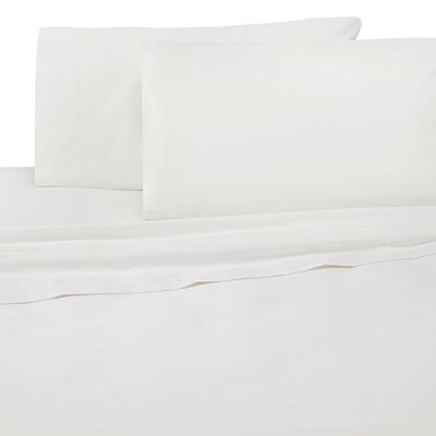 Galusha 300 Thread Count Pillow Case Size: King, Color: White