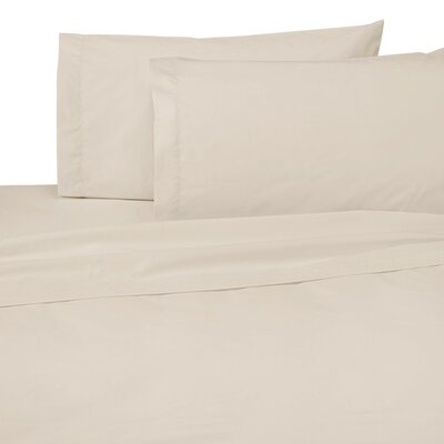 Classic Touch 200 Thread Count Flat Sheet Size: King, Color: Beige