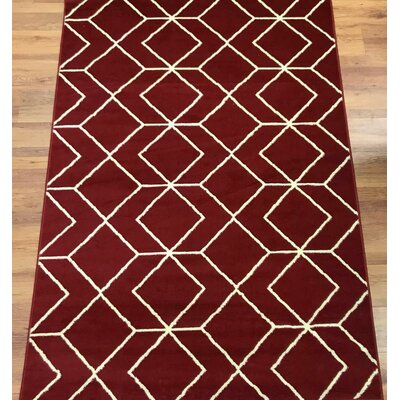 Abdo Kashan King Red Area Rug Rug Size: Rectangle 8 x 10