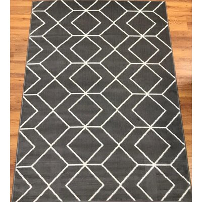 Abdo Kashan King Gray Area Rug Rug Size: Rectangle 5 x 7