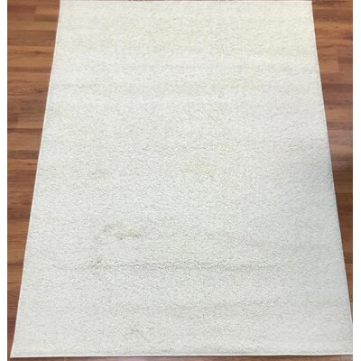 Morillo Star Shaggy Cozy Solid Cream Area Rug Rug Size: Rectangle 8 x 10