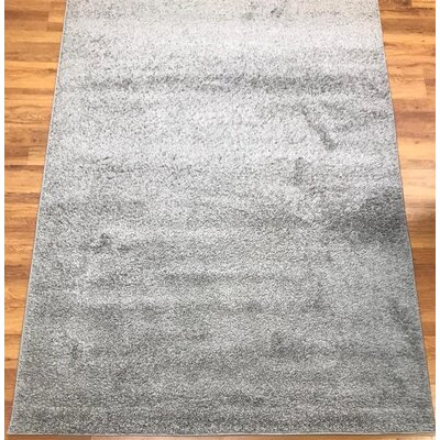 Morillo Star Shaggy Cozy Solid Gray Area Rug Rug Size: Rectangle 8 x 10