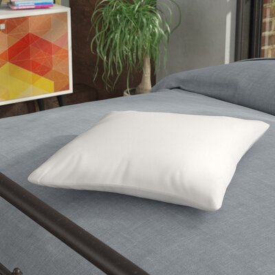Pillow Insert with Protectors Size: 15 H x 15 W x 3 D