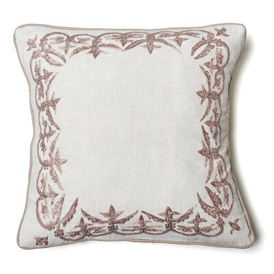 Ruffina Flax Cotton Throw Pillow Size: 20 H x 20 W