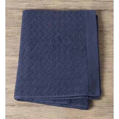 Maughan Cotton Velour Bath Sheet Color: Blue