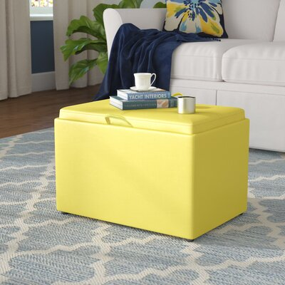 Marla Accent Storage Ottoman Upholstery: Yellow