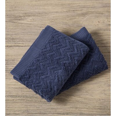 Maughan Cotton Velour Washcloth Color: Blue