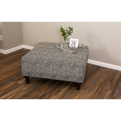 Arlington Cocktail Ottoman Upholstery: Black/White
