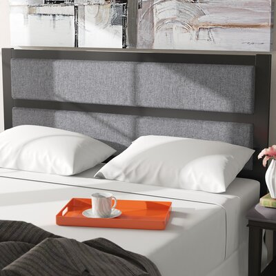 Walser Metal Upholstered Panel Headboard Size: Queen