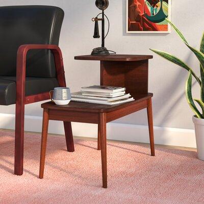 Darcey Mid-Century End Table Color: Mahogany