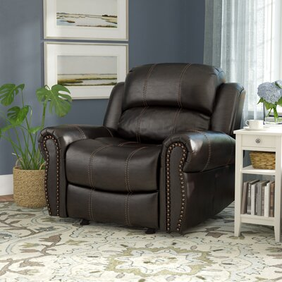 Chatham Manual Glider Recliner Upholstery: Dark Brown