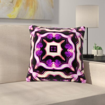 Dawid Roc Vintage Flower Pattern  Abstract Outdoor Throw Pillow Size: 18 H x 18 W x 5 D, Color: Purple